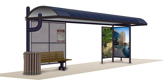 Sundial Energy Solar Integrated Bus Shelters